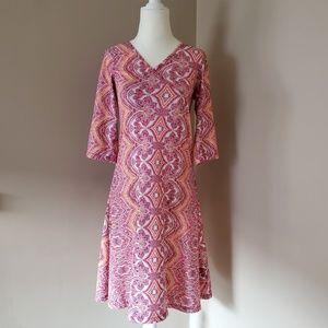 prAna Nadia Bali Print Faux Wrap Dress Size Small